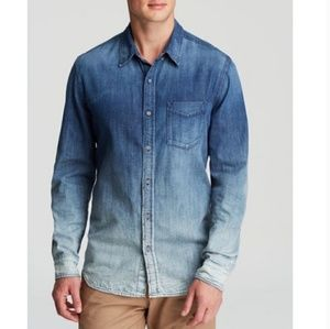 AG Adriano Goldschmied Nimbus Ombre Shirt Denim L